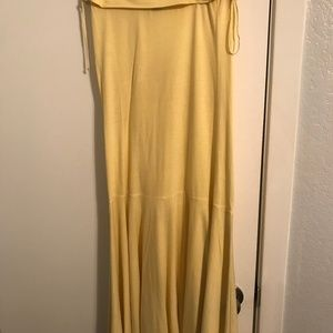 Theory Strapless Dress with Side Ties